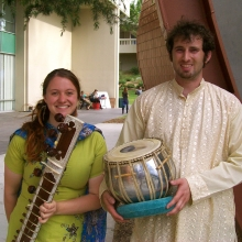 CalArts World Music Festival, 2014, with Colby Beers on tabla.