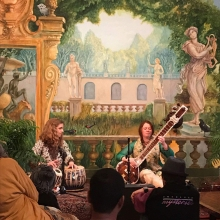An afternoon concert at the Throckmorton Theatre in Mill Valley, with Esther Adams on tabla.