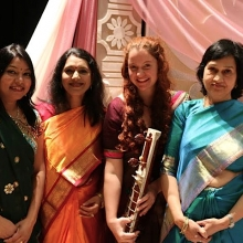 Before our performance for Project Udaan, 2016. Right to Left: Shonali Srivastava, Swasti Pandey, Rhiannon Ledwell, Rita Sahai